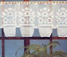 Modelli all\'uncinetto: Crochet Curtain - lavora all\'uncinetto il ...