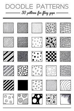 30 Patterns for Doodling / Filling gaps