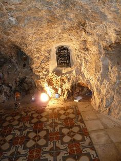 The cave where, according to tradition, Jesus spent 40 days and 40 nights, is located within the Monastery of the Temptation (Quruntal): An ancient monastery that is built along a cliff overlooking the city of Jericho and the Jordan Valley. Monuments, Visit Israel, Holy Land, Pilgrimage, Ancient History, Archaeology, Christianity, Israel Palestine, Dubai