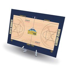 Denver Nuggets Replica Basketball Court Display, Size: Novelty, Multicolor