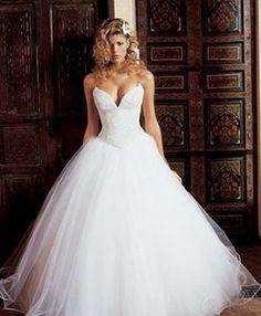 vestidos de noiva tomara que caia rodado decote