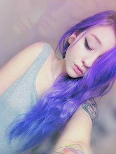 piercing tattoos purple hair cute girl pastel hair dyed hair PASTEL COLOURS pale pastel goth scene hair alternative girls scene girls alternative style violet hair dilator
