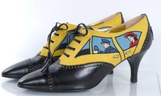 80's Moschino Car&Driver Shoe - unworn | From a collection of rare vintage shoes at https://www.1stdibs.com/fashion/clothing/shoes/