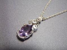 ワイヤーラップのトップの作り方♪ ( 工芸 ) - ふみろぐ - Yahoo!ブログ Wire Jewelry, Jewelry Crafts, Beading Projects, Wire Wrapped Pendant, Wire Work, Wire Wrapping, Diy And Crafts, Pendant Necklace, Beads