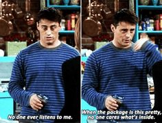 Joey Tribbiani (Matt Leblanc) #Friends #TV show #Gif