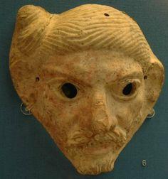 Terracotta Germanic mask. III century. BC.