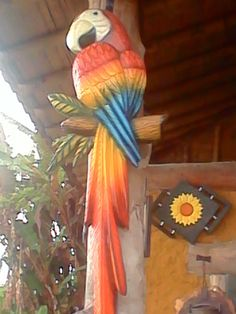 Taller San José: Aves Wood Carving Art, Air Dry Clay, Cactus, Woodworking, Bird, Wall Art, Abstract, Outdoor Decor, Projects
