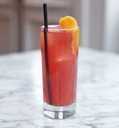 ... Raspberry Liqueur, lemon, simple syrup, and soda water. Photo: James