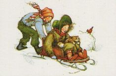 Holly Hobbie, sledding