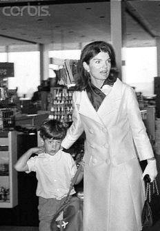 Jackie and John leaving a gift shop at JFK airport