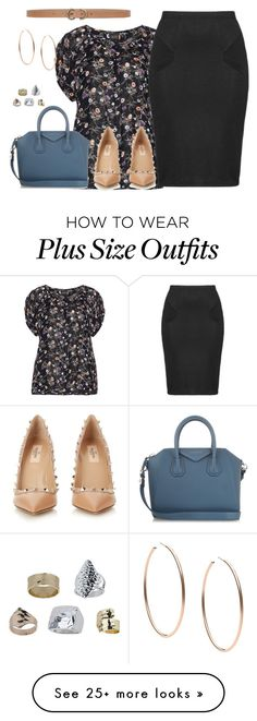 """""""plus size working it"""" by kristie-payne on Polyvore featuring Choise, Valentino, Max Studio, Givenchy, Zizzi, Michael Kors, Topshop, women's clothing, women and female"""