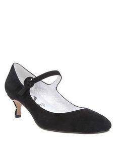 Nina Benecia Mary Jane Suede Stiletto Pumps Women's Black 9.5