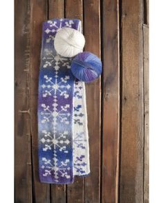 Snowstorm Scarf IDP Kit - Original by Rose Stewart double knitting- now that… Double Knitting Patterns, Loom Patterns, Crochet Patterns, Fair Isle Knitting, Loom Knitting, Knitting Stitches, Knitted Shawls, Knit Scarves, Knit Picks
