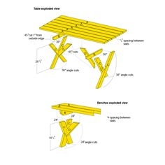 Build A Picnic Table, Folding Picnic Table, Picnic Tables, Shop Plans,  Table Dimensions, Table Seating, Diy Table, Outdoor Projects, Carpenter