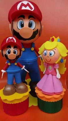 Mario y Princesa Peach fofuchas