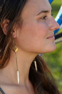 Lookbook Love, Plus A Giveaway With S.F. Bauble-Maker Salty Fox  #refinery29  http://www.refinery29.com/salty-fox-jewelry-giveaway#slide10  Aziza Earrings, $46  Photo: Courtesy of Sara Davis/Salty Fox