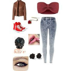 I'm bored going out by leticiacamacho on Polyvore featuring Fat Face, River Island, Converse and MARC BY MARC JACOBS
