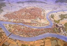 Lugdunum in the 2nd century AD, nowadays Lyon in France