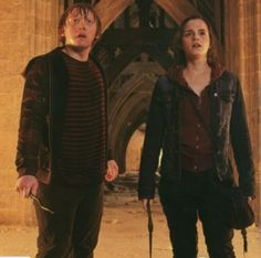 Hogwarts battle hermione and ron