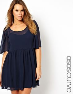 Love the sheer neckline and sleeves