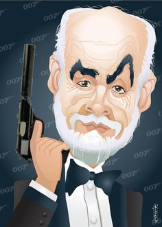 Caricature: 007 (retired) by buzzboy