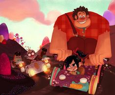 Wreck-It Ralph Concept Art - Vanellope and Ralph