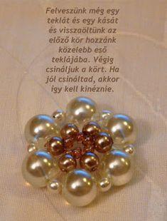 Tiszi gyöngyékszerei: Rozetta minta Pendants, Brooch, Beads, Pattern, Jewelry, Beading, Jewlery, Bijoux, Pendant