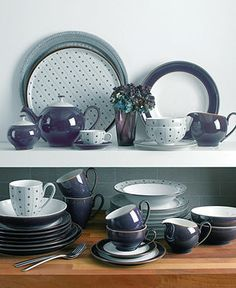 Denby Dinnerware, Amethyst Collection - Casual Dinnerware - Dining & Entertaining - Macy's