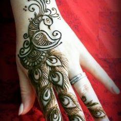 Henna Hand Designs, Mehndi Designs Finger, Peacock Mehndi Designs, Henna Tattoo Designs Simple, Basic Mehndi Designs, Mehndi Designs 2018, Mehndi Designs For Girls, Mehndi Designs For Beginners, Mehndi Design Photos