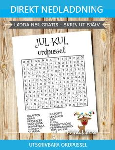 Find words that hide among the letters. Christmas Word Search, Christmas Words, Christmas Diy, Xmas, Holiday, Free Christmas Printables, Free Printables, Word Puzzles, Learning The Alphabet