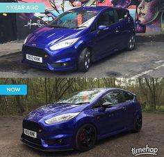 Blue Ford Fiesta ST Ford Focus Sedan, Clio Rs, Hatchbacks, Ford Fiesta St, Focus Rs, Car Mods, Car Wrap, Rally, Dream Cars
