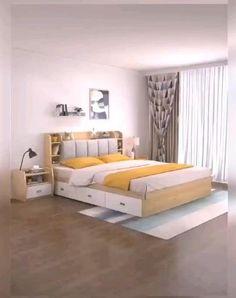 Bedroom Closet Design, Bedroom Furniture Design, Room Ideas Bedroom, Home Room Design, Small Room Bedroom, Trendy Bedroom, Bed Furniture, Furniture For Small Bedrooms, Couple Bedroom Decor