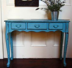 Shabby Chic Hand-Painted Console Table