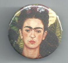 "1.25"" Frida Khalo Badge Button Pinback Pin #Etsy"