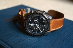 Omega Speedmaster with Hodinkee strap