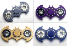Batman Fidget Spinner 3D printed toy by mollycampbelldesign