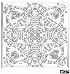 free printable abstract coloring pages for adults coloring pages mandala coloring - Coloring Pages Difficult Abstract