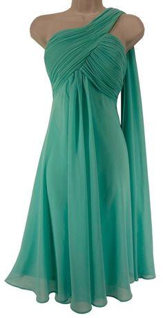 14 XL SEXY Womens ELEGANT ONE-SHOULDER CHIFFON DRESS Wedding Summer Cruise #EverPretty #SpecialOccasion