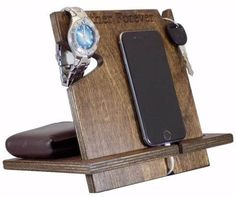 Universal Wood iPhone/Android Docking Station Palmetto Wood Shop offers gray wooden docking stations for sale online, compatible with all cell phones. It holds your phone, wallet, watch and keys. Bday Gifts For Him, Christmas Gifts For Him, Unique Birthday Gifts, Anniversary Gifts For Him, Gifts For Husband, Holiday Gifts, Husband Anniversary, Men Birthday, Wedding Anniversary