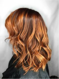 red hair with copper