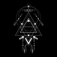 Sacred Geometry Triangle, Sacred Geometry Symbols, Triangle Art, Sacred Geometry Tattoo, Geometric Tattoo Design, Geometric Logo, Geometric Designs, Geometric Shapes, Navajo Tattoo