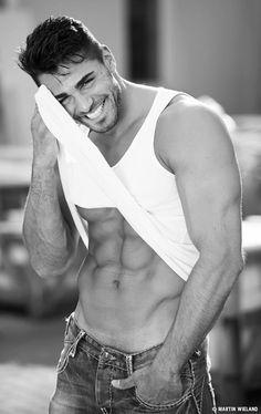 men, handsome, fitness model, muscular, Kenan Engerini ~Martin Wieland Photography