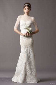 watters brides bridal fall 2013 2014 kerry 4096b embroidered lace sleeves wedding dress