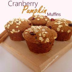 Pumpkin Recipes-Cranberry Pumpkin Muffins