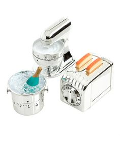 Take a look at this Metal Kitchen Timer Set by Design Imports on #zulily today!
