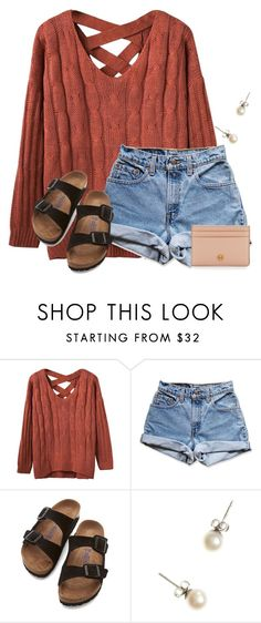 """~t h u r s d a y~"" by flroasburn on Polyvore featuring Levi's, Birkenstock, J.Crew and Tory Burch"