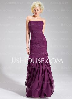 Evening Dresses - $138.99 - Sheath Strapless Floor-Length Chiffon Evening Dress With Ruffle (017019556) http://jjshouse.com/Sheath-Strapless-Floor-Length-Chiffon-Evening-Dress-With-Ruffle-017019556-g19556