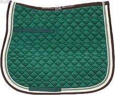 Dark Green/Brown Saddle Pad