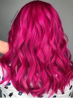 fantasy hair color for brunettes ; Bright Pink Hair, Hot Pink Hair, Pink Hair Dye, Vibrant Hair Colors, Hair Color Pink, Hair Dye Colors, Dye My Hair, Cool Hair Color, Crazy Color Hair Dye
