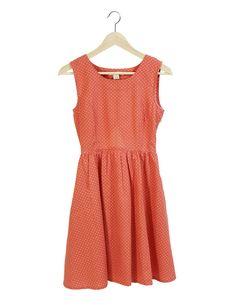 Fair Trade Dress | Handmade Dress | Fair Trade Fashion | Made in India | Ethical Fashion |  Fair Trade Coral Dot Dress - Sweet Lupine
